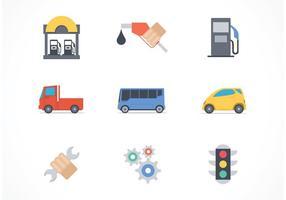 Icônes vectorielles gratuites pour les services de voiture vecteur