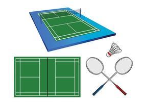 Vecteurs de cour de badminton