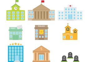 Bâtiments colorés de la ville vecteur