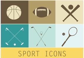 Icônes gratuites de sport vectoriel