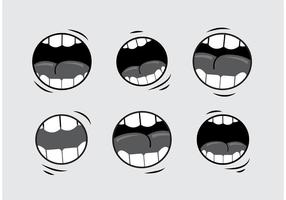 Vecteurs parlants de la bouche vecteur