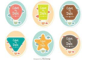 Save The Date Pack de vecteur de ballons à air chaud