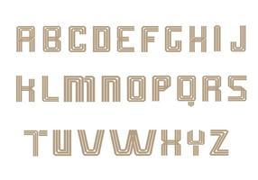 Pack Vector Art Alphabet Art Déco