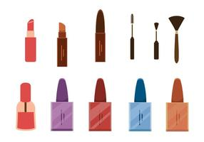 Vecteurs de maquillage et de vernis à ongles vecteur