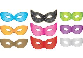 Vecteurs de masques de mardi gras vecteur