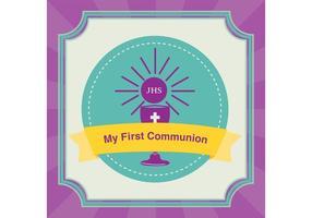 Fond d'invitation de première communion vecteur