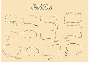 Des vecteurs à bulles de la parole dessinés à la main vecteur