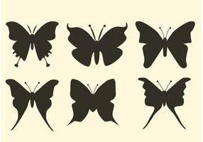Silhouettes de vecteur papillon gratuit