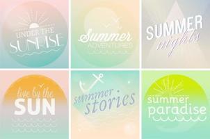 Pastel Summer Time Backgrounds vecteur