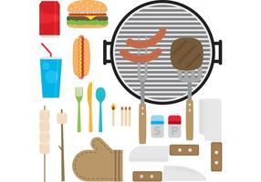 Vecteurs de nourriture au camp vecteur