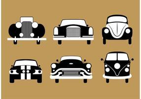Vecteurs de voitures anciennes vecteur