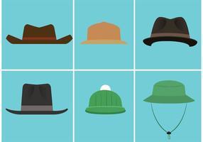 Ensemble de chapeau de vecteur gratuit