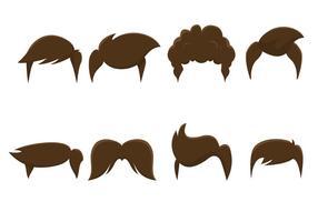 Styles de cheveux vectoriels gratuits vecteur