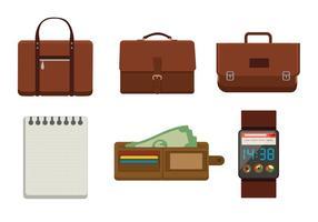 Porte-documents et vecteurs d'accessoires vecteur