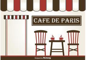 Illustration de café en plein air vecteur