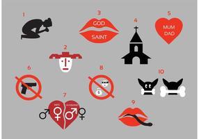 Dix commandements modernes vecteur