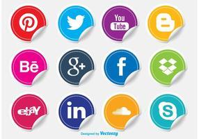 Autocollants icône de médias sociaux vecteur