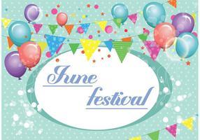 Contexte du vecteur Festival de juin