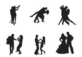Couples de danse de vecteur gratuit