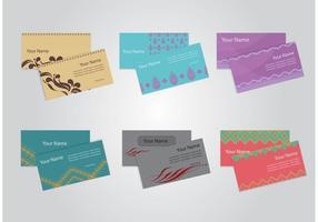 Vecteurs de carte d'identité d'entreprise