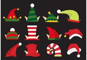 Vecteurs de chapeaux d'elfes