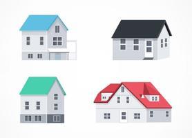 Maisons isométriques vectorielles gratuites