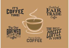 Étiquettes de café vintage vecteur