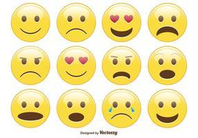 Ensemble mignon smiley / émoticône vecteur