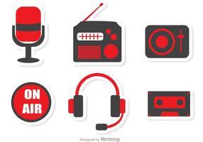 Pack de vecteurs d'icônes de radio vecteur