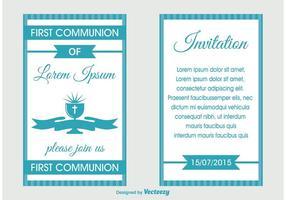 Invitation à la première communion vecteur