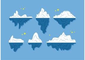 Vecteurs flottants d'icebergs vecteur