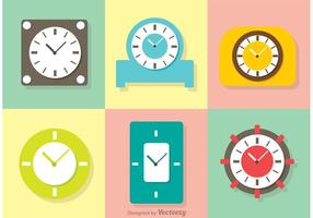 Pack Pastel Clock Vector