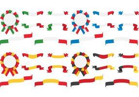 Rubans européens et badges vecteur