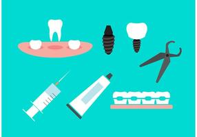 Icônes dentaires vecteur