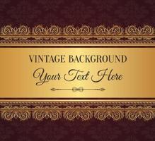Fond élégant en style vintage vecteur