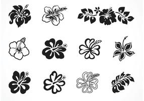 Silhouettes Vector Free Hibiscus