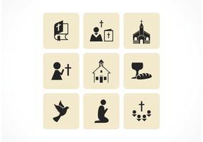 Icônes vectorielles chrétiennes gratuites vecteur