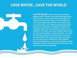 Sauver l'illustration de l'eau vecteur