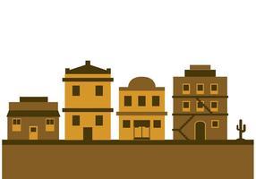 Ancienne ville de l'Ouest vecteur