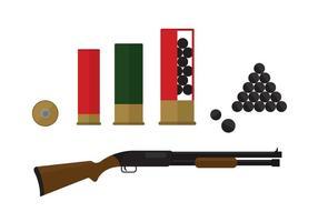Éléments de fusil de chasse vecteur