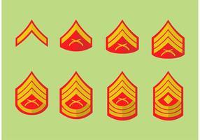 Badges du corps de marine vecteur