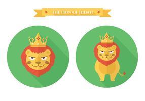Icône vectorielle gratuite Flat Lion Of Judah vecteur