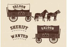 Vecteur de wagon couvert gratuit