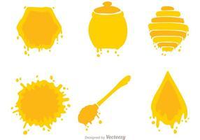 Vecteur d'icônes de miel
