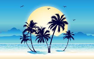 Illustration de scène tropicale vecteur