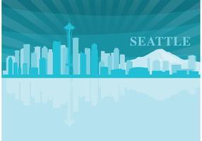 Paysage de Seattle vecteur