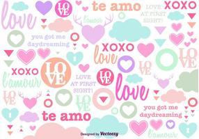Fond amoureux de l'amour vecteur
