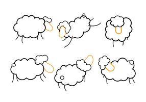 Mouton isolé vecteur