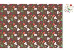 Free Vector Dia De Los Muertos motif de crâne de sucre