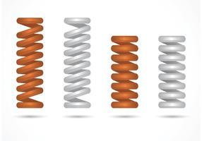 Ensemble de ressort à bobines vectorielles gratuites vecteur